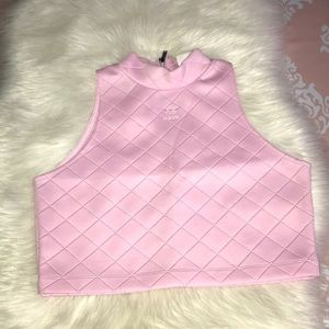 Adidas Scuba Quilted Crop Top